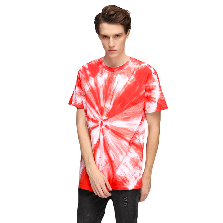 Custom Crew Neck Tie Dye 100%Cotton T Shirts