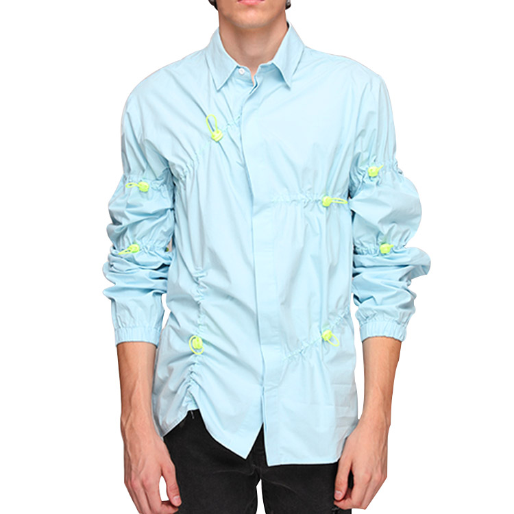 Custom Long Sleeve Ruched Toggle Mens's Shirts